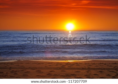 Colorful sunset over the sea -Spain, Almeria