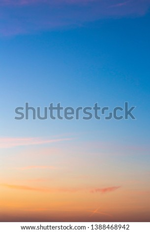 colorful sunset sky with beautiful clouds #1388468942