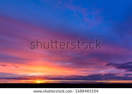 Photo of  Colorful sunset with clouds in the evening, Russia