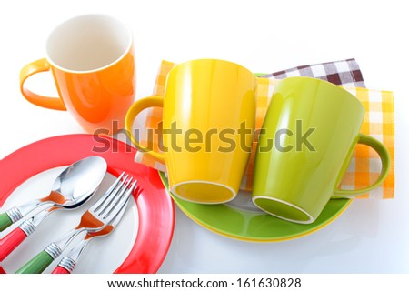 Colorful tablewares