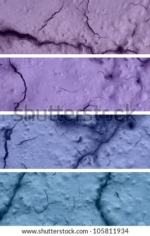 Colorful Textures of stone with cracks