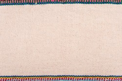 Colorful Thailand style rug surface, Close up fabric is made of hand-woven cotton fabric