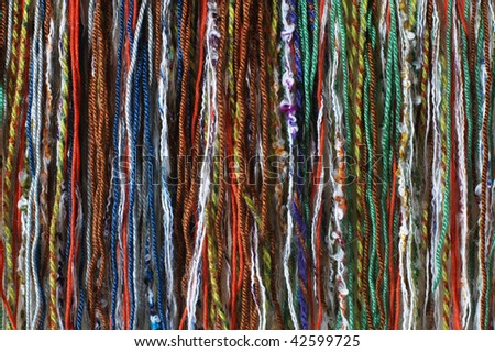 Colorful threads for knitting