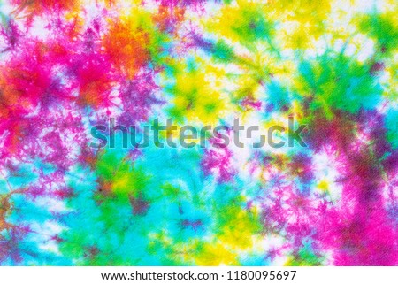 colorful tie dye pattern abstract background. #1180095697