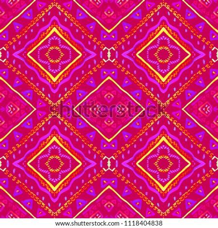 60a984dc Colorful tie dye shibori print. Seamless hand drawn boho batik pattern. Ink  textured japanese