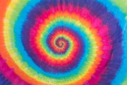 Colorful Tie Dye Swirl Design and Pattern