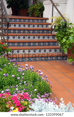 Colorful tile stairs