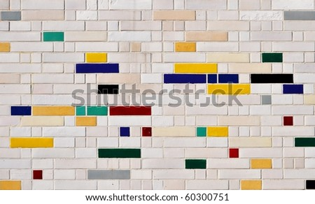colorful tiles abstract