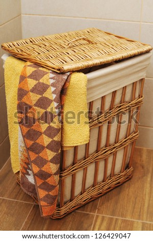 colorful towels in a basket