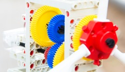 Colorful Toy Gears from a children's toy