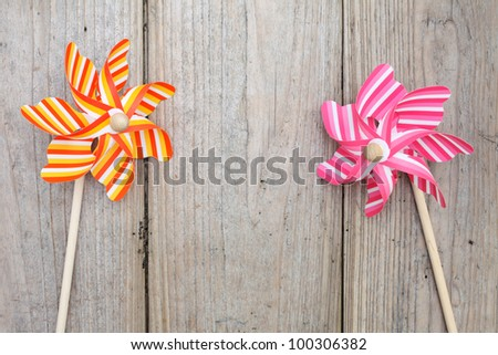 Colorful toy pinwheel