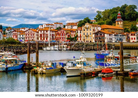 Shutterstock Colorful traditional basque houses in port of Saint-Jean-de-Luz Old Town, France