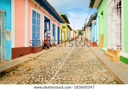 Shutterstock Colorful traditional houses in the colonial town of Trinidad in Cuba