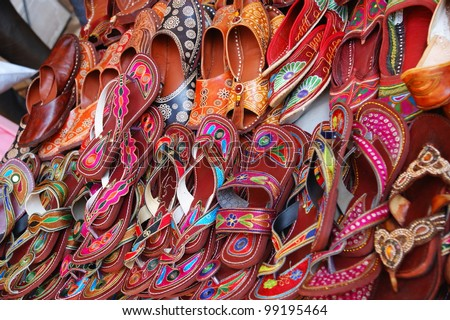 74d2171fb53c Colorful traditional shoes for sale in Jodhpur