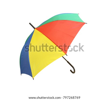 Colorful umbrella Isolated on white background.  #797268769
