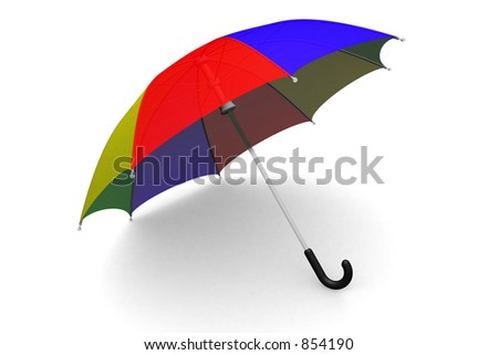 Colorful umbrella on the ground
