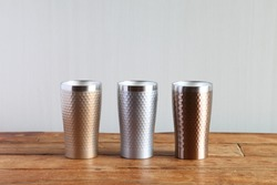 Colorful Vacuum Insulated Stainless Steel Tumbler (Gold, Silver, Bronze)