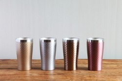 Colorful Vacuum Insulated Stainless Steel Tumbler (Gold, Silver, Bronze, Pink)