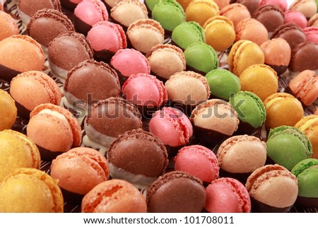 Colorful variety macaroons