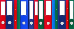 Colorful various file folders background