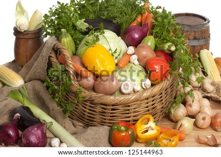 colorful vegetables