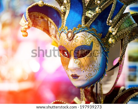Colorful Venetian carnival mask for sale