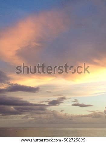 Colorful vibrant clouds during sunset #502725895