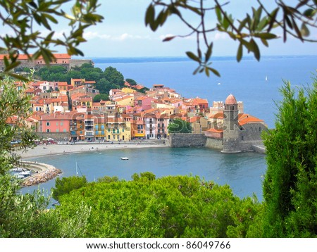 Colorful village of Collioure, Vermilion coast, Languedoc-Roussillon, France