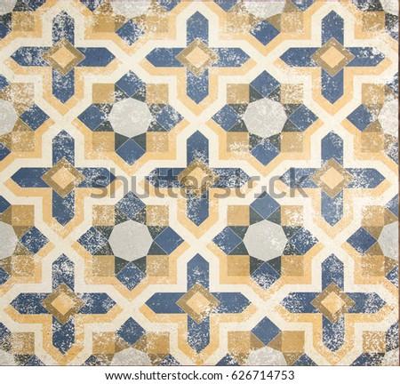 Free photos Vintage ceramic tiles wall decoration.Turkish ceramic ...