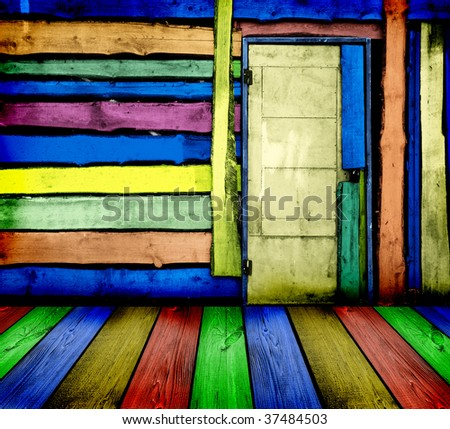 colorful vintage wooden room