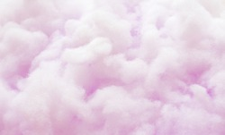 Colorful violet fluffy cotton candy background, soft color sweet candyfloss, blur dessert texture