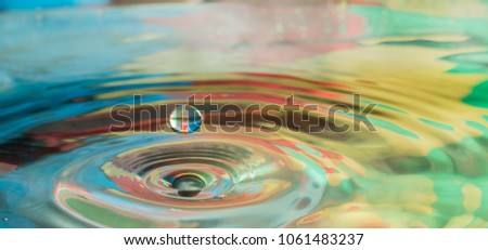 colorful water drop splash in a body of water