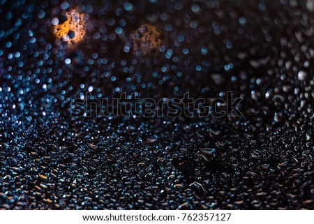 Colorful Water Drops on Glass Stock fotó ©
