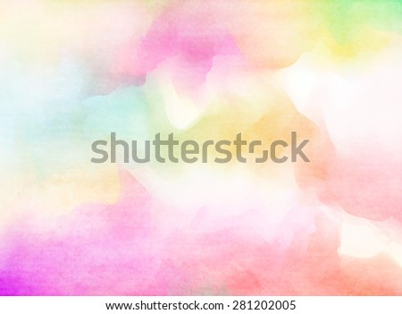 Colorful Watercolor. Grunge texture background.