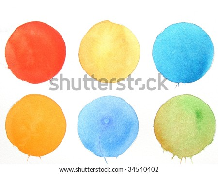 colorful watercolor paint circle background