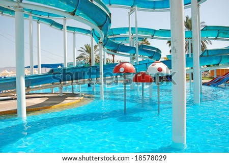 colorful waterpark