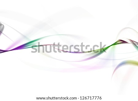 colorful Waves abstract background on white