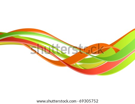 Colorful waves background - raster version