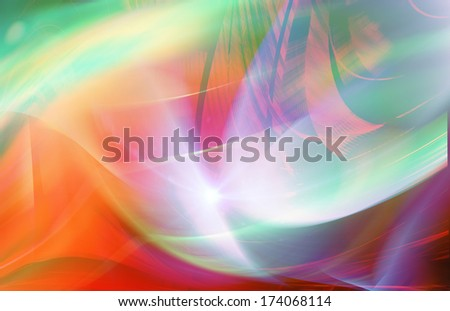 Colorful wide format abstract modern design
