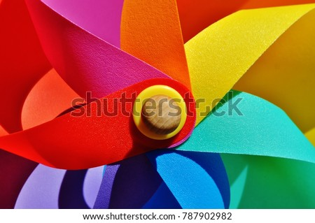 Colorful windmill close-up