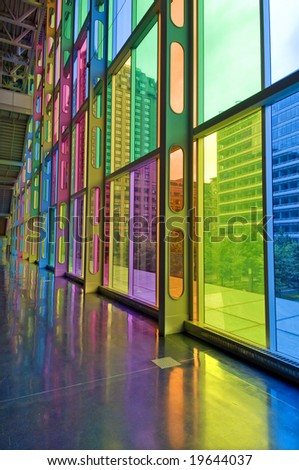 Colorful Windows and Reflection