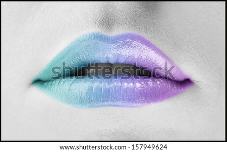 Colorful woman lips