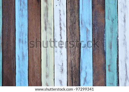 colorful wood background.
