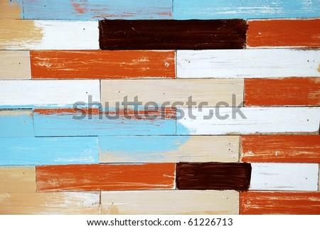 Colorful wood board