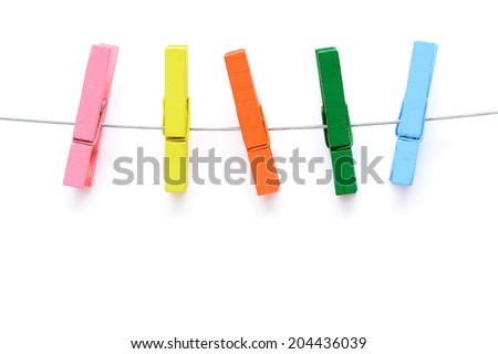 colorful wooden clothespin