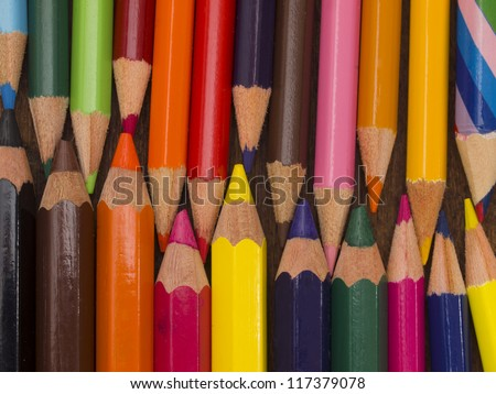 colorful wooden pencils