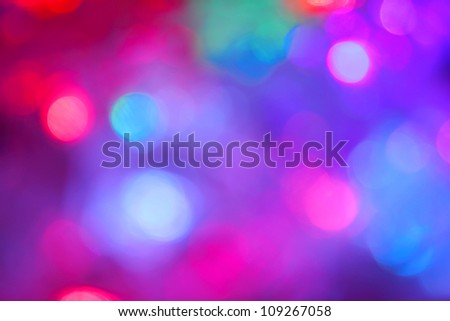 Colorful X-mas bokeh