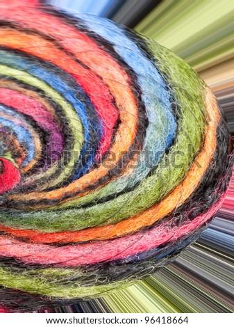 Colorful yarn - pattern / background