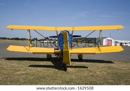 Colorful yellow and blue airplane