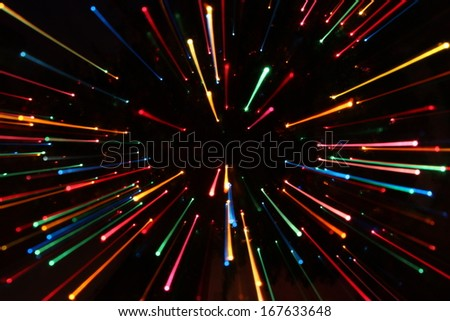 Colorful Zooming Lines #167633648